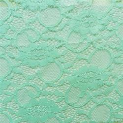 Merletto africano del tessuto del Crochet di stirata verde (NF1006)