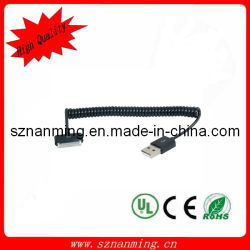 30pin Dock Spring Cable pour l'iPhone 4 (NM-USB-641)