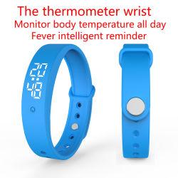 V9 ha personalizzato del Ce I5 i braccialetti di vigilanze astuti IP67 di RoHS LED di temperatura corporea SOS di caduta di allarme del commercio all'ingrosso del cuoio all'ingrosso impermeabile del silicone Edengma per l'uomo delle donne