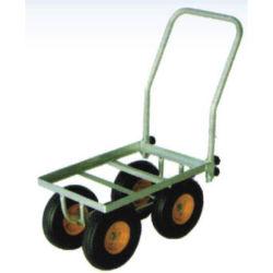 100 кг многофункциональный сад оцинкованной стали цветок 4 колеса корзина инструментов