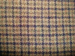 Laine Blenched fils teints en nylon Vérifier tissu de laine