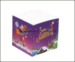 Preiswerter fördernder kundenspezifischer Weihnachtsentwurfs-Papier-Protokoll-Würfel-Anmerkungs-Würfel