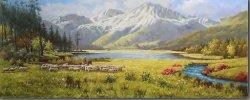 El paisaje del valle en la pintura al óleo