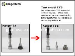 2013 غرينفابي أكثر Kanger T3 أصالة مع وحدة الملف السفلي