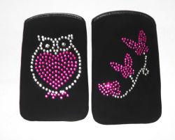 Черный провод фиолетового цвета материала чехол для телефона Gems