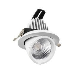 Office Shop Bianco Nero montaggio regolare soffitto Downlight interno Faretto a LED con luci regolabili