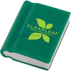 Novidade em forma de livro Eraser com logotipo personalizado