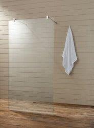 Australian approuvé douche en verre trempé clair Partition (T2)