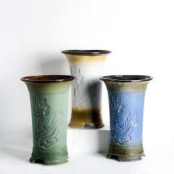 Pot de fleur de porcelaine antique décor d'accueil