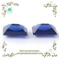 緩く総合的な宝石類を作るための鋼玉石の伯爵夫人の正方形の中心のクッションの伯爵夫人によって切られる青いサファイア