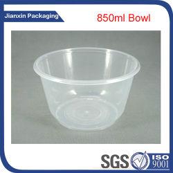فرن ميكروويف آمن مقاوم للحرارة حساء بلاستيكي دائري مقاوم للحرارة، وعاء طعام مع غطاء وعاء الحساء القشدي