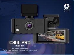 Автомобиль новой конструкции камеры 4K+1080P два тире автомобилей с передним и задним камеры Sony GPS WiFi DVR с поддержкой режима парковки