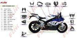 Parti di fibra del carbonio del motociclo per BMW S1000rr 2015