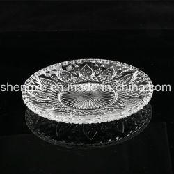 100% No-Lead Diamond tigela de vidro cristal transparente & Placa (SX-013)