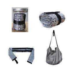 Couleur gris de grande taille Fashion Festival Don Un sac à main facile sac de collecte de pliage