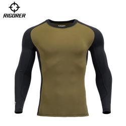 T-shirt van de Koker van de Legging van de Compressie van de Slijtage van de Training van de Slijtage van de Gymnastiek van Rigorer de Lange