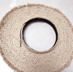 卸売のカスタムFoldable Raffiaの麦わら帽子浜の帽子の日曜日バイザー
