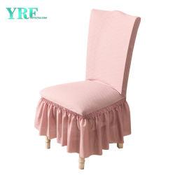 Haupttextilstickerei-Spitze-Stuhl-Sitzdeckel-Rosa-Stuhl-Deckel für Hochzeitsfest