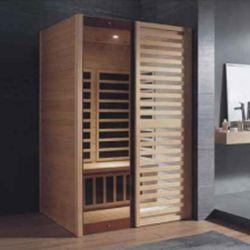 Mini sale sauna portatile a infrarossi per adulti gonfiabili in legno all'aperto