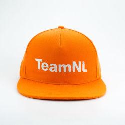 맞춤형 5 패널 평면 인쇄 기능을 갖춘 고품질 Snapback Hat 브림 패션 힙 팝 야구 모자