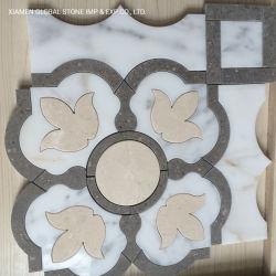 Высокое качество воды белого каррарского смешанных Эмперадор мозаика из темного мрамора плитки для домашней обстановкой внутри помещений