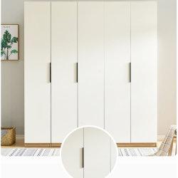 Brust schmälerte die 4 Tür-Brust-Speicher-Inhalts-Haushalts-vollständigen Schlafzimmer-Schiebetür-Typen grosse Garderoben-Möbel