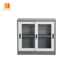 زجاج باب قصيرة معدنية ملف خزانة وثائق الصلب تخزين الملفات خزائن ملفات المكاتب