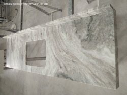 Haut de gamme/granit naturel/comptoirs de pierre de Quartzite Fantasy Brown Tops meuble lavabo en marbre avec double/simple des puits pour les armoires de salle de bains Design