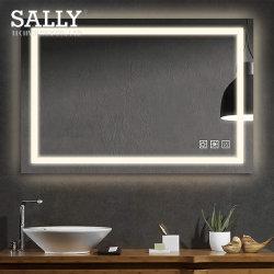 Sally Wc Espelho de parede LED do interruptor do sensor de toque para casa de banho decorativos espelho LED