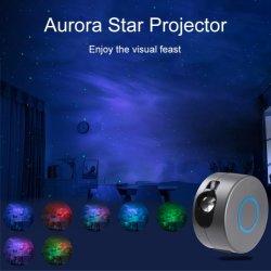 Galaxy Laser céu estrelado lâmpada de projeção levou água rotativas acenando Night Light sonho colorido Controle Remoto Nebula lâmpada de projeção