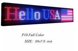 P10 sondern farbenreiches LED-Bildschirmanzeige-Zeichen mit Text-Verschieben- der Bildschirmanzeigefunktion aus