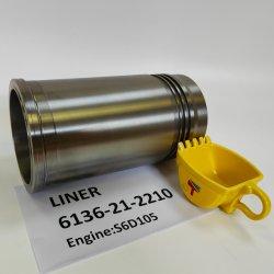 Motor de la maquinaria de camisas de cilindro 6137-21-2210 6136-21-2210 para PC200-3 Excavadora Buildozer D41UN MOTOR S6D105.