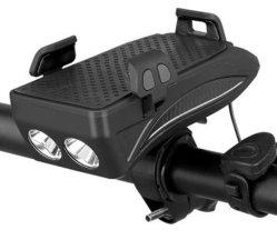 Aluguer USB multifuncional de luzes Buzina Bicicletas Suporte Telefônico Power 4 no 1 andar frente a lâmpada de luz de noite a Cavalo