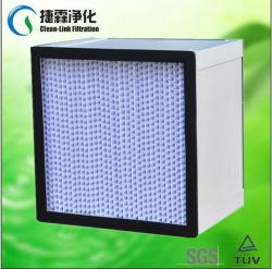 Гофрированный фильтр HEPA для отрасли СИСТЕМЫ ОТОПЛЕНИЯ фильтр с алюминиевой рамкой