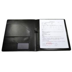 도매 A4 회의 Organiser 제조 PU 가죽 포트홀리로 서류철