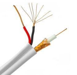 Super сентября коаксиальный кабель RG59 RG6 с кабелем питания RG59 Кабель CCTV камеры CCTV 305m 1000футов медных ОАС CCS деревянная черная мотовила