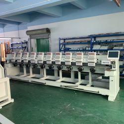 10 têtes Wonyo haute vitesse plat+PAC+VÊTEMENTS Embroidery Machine.