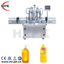 Hzpkの自動4つのヘッド水ミルクの液体のパッキング充填機