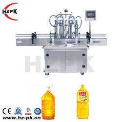 Het Vullen van de Verpakking van de Melk van het Water van 4 Hoofden van Hzpk Automatische Vloeibare Machine