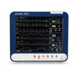 """CE Sinohero approuvé est de12 12""""Multi-Parameter Prix du Moniteur Patient 3/5 ECG, Sp02, HR/Pr, Resp, PB, température tout en un seul des périphériques"""