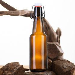 ホールセールフリーサンプル 330ml 500ml 750ml 1000mL 褐色ガラスビール スイングトップキャップ付きジュース Kombucha Soda 用ボトル