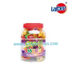 Gelatina di frutta personalizzabile con varietà di sapore in vaso rotondo