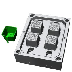 تصميم جديد أرخص سعر حقن البلاستيك كوب مربع الأسرة قالب