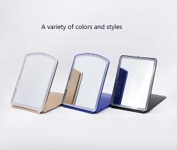 Портативный простой стиль Космическая дека стола LED Светлообразный сложенный плоский дизайн в соответствии с требованиями заказчика Подпиточное зеркало
