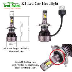 Auto partie 9007 H11 880 H4 LED Lampe phare H1 9005 H13 K1 Projecteur LED H7 Voyant Turbo