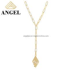 مجوهرات الموضة بالجملة جديد يصل 925 جنيه إسترليني فضة زركونيا المكعبة مجوهرات عقد طويلة للنساء