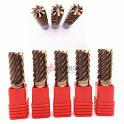 Hartmetall-Bohrer Spitze Fräsen Schneidwerkzeuge mit 8 Flöten Aus Der Fabrik