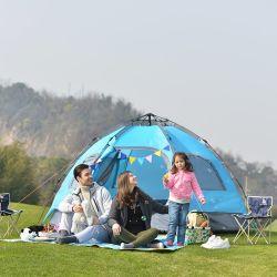 Amazônia Venda quente 4-6Hexagonal pessoa 190t à prova de poliéster Camping tenda familiar
