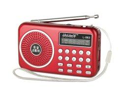 ポケットサイズ AM/FM ラジオ L-063am (記録 / TF/USB/LED フラッシュライト付き