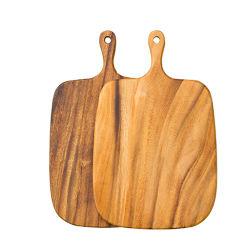 Ustensiles de cuisine de l'environnement naturel du bois d'Acacia/cuisine Outil/Fruits/légumes bloc de hachage de coupe d'administration avec poignée